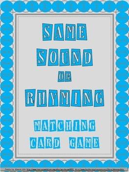 Same Vowel Sound or Rhyming Words Game