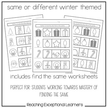 Same or Different: Winter Themed- Special Education