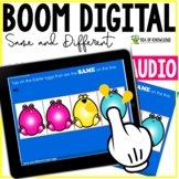 Same and Different Activity Digital Tablet Boom Cards Easter Eggs