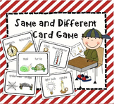 Same and Different Card Game