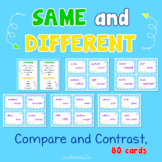Same and Different, Compare and Contrast, 80 cards   Dista