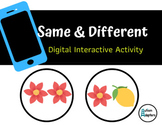 Same and Different Digital Interactive Activity- Distance