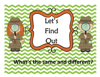 Same and Different - Let's Find Out Detective Game