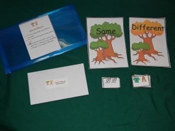 Same and Different Math Center, Classroom Resource Tool- Hard Good