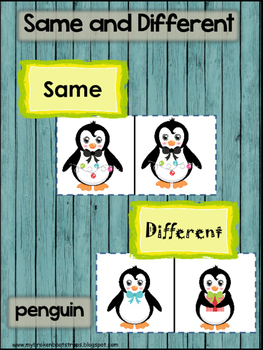 Same and Different Penguin Center Activity