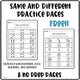 Same and Different Practice Pages