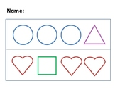 Same and Different (Shapes) worksheet