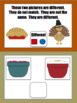Same and Different Interactive Book: Thanksgiving Version FREEBIE!