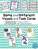 Same and Different Visuals and Task Cards