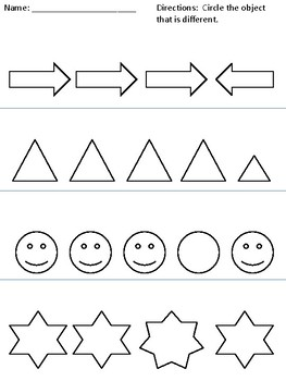Same and Different Worksheets by Clip Art Creations AL | TpT