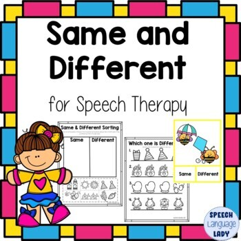Same and Different for Speech Thearpy