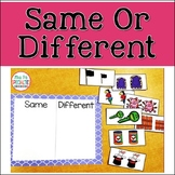 Same Or Different Sorting Center for Special Education & Autism Programs
