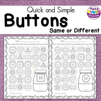 Same or Different Buttons