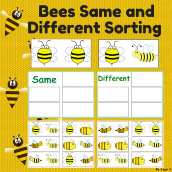 Free Bees Same and Different Sorting Activity