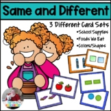 Same or Different Visual Discrimination Cards