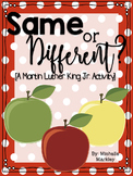Same or Different? [An activity for MLK Day!] FREEBIE