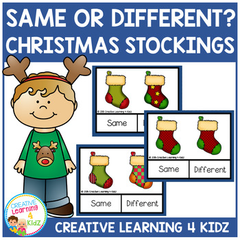 Same or Different Christmas Stocking Clip Cards