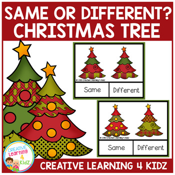Same or Different Christmas Tree Clip Cards