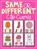 Same or Different Clip Cards