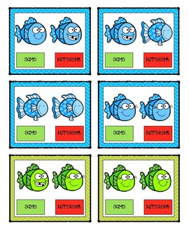 Same or Different Clip Cards: Fish