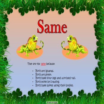 Same or Different Comparisons PDF VERSION - Teletherapy