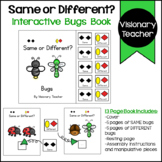 Bugs: Same or Different? Interactive Book