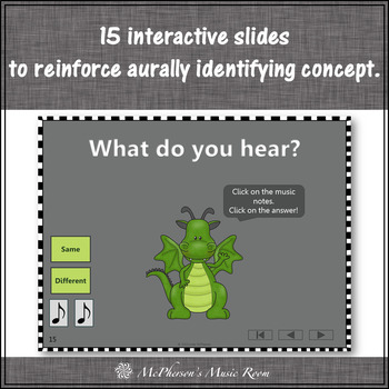 Same or Different ~ Music Opposite Interactive Music Game + Assessment {dragon}