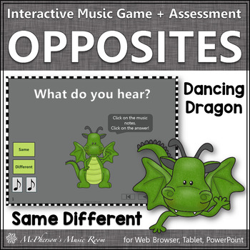 Same or Different - Interactive Music Game + Assessment (dragon)