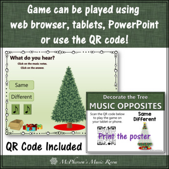 Same or Different Interactive Music Game {Decorate the Christmas Tree}