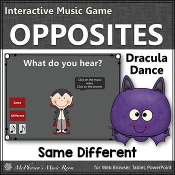 Fall Music Game ~ Same Different Interactive Music Game {Dracula}