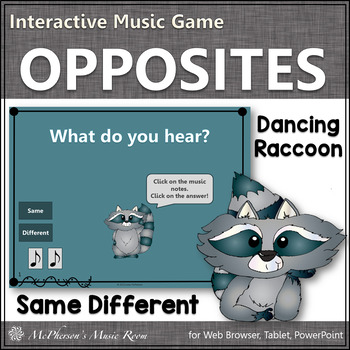 Same or Different - Interactive Music Game (raccoon)