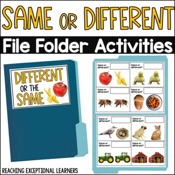 Same or Different-File Folder Activity-Special Education
