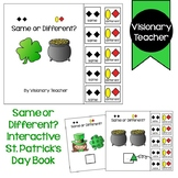 Same or Different - St. Patrick's Day Adapted Book