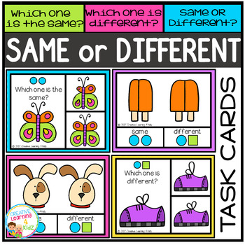Same or Different Visual Task Cards