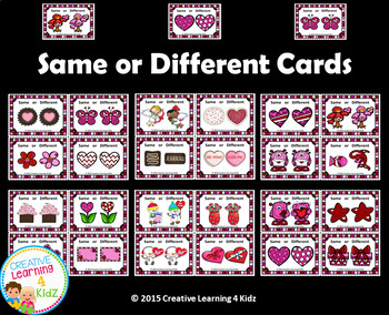 Same or Different Valentine Cards