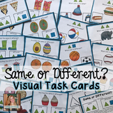 Same or Different Visual Task Cards (Special Ed)