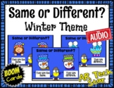 Same or Different?  Winter Theme Boom Cards w/ AUDIO