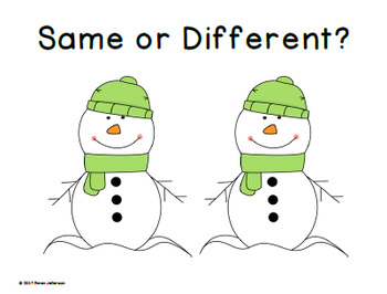 Same or Different for 2 and 3 Year-Olds