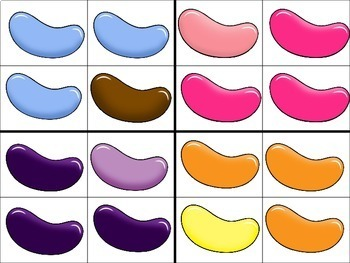 Same vs. Different Jelly Bean Clips Freebie