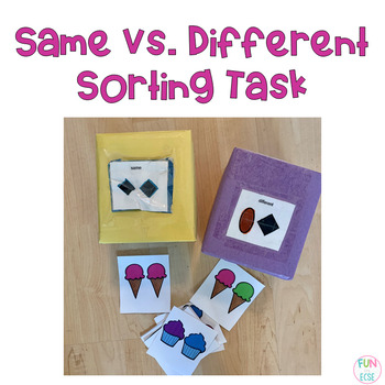Same vs Different Sorting Task Freebie