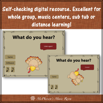 Same vs Different - Turkey Dance Interactive Music Game {form}