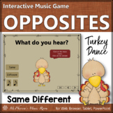 Thanksgiving Music Game Same Different {Form} Turkey Dance