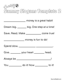 Sammy Rabbit's Favorite Slogans On Money