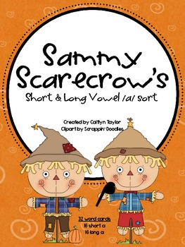 Sammy Scarecrow's Short and Long Vowel /a/ Sort