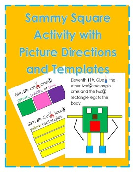 Sammy Square Activity Directions and Templates