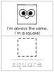 Sammy Square Printable Mini Book. Preschool-Kindergarten 2-D Shapes.
