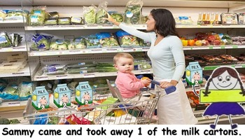 Sammy Subtraction Goes to the Supermarket (Subtraction within 10)