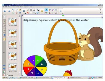 Sammy The Squirrel Smartboard Lesson