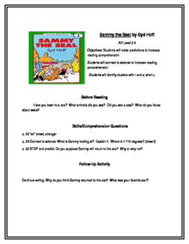 Sammy the Seal for Guided Reading