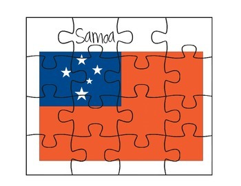 Samoa Flag Puzzles